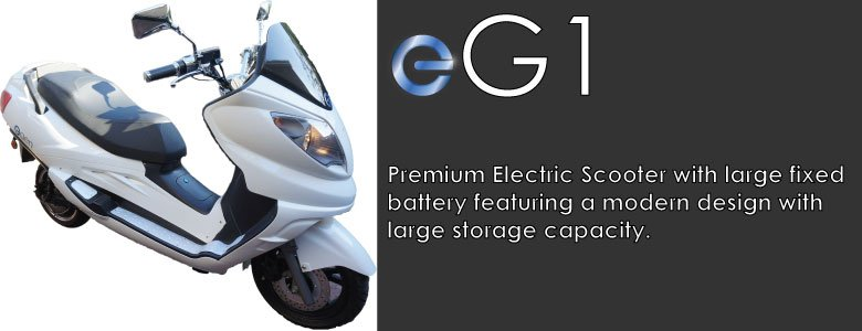 eGen eG1 Premium Electric Scooter Moped long range large lithium battery high performance LCD dash storage capacity