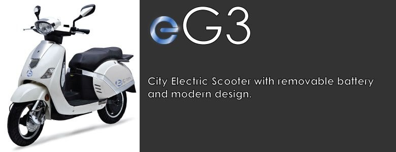 eGen eG3 City Electric Scooter Moped long range large removable lithium battery high performance carry rack