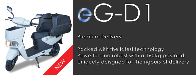eGen eG-D1 eGD1 Premium Electric Delivery Scooter Moped long range removable lithium battery performance heated top box