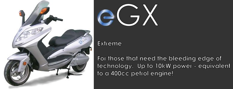 eGen eGX Extreme Electric Scooter Moped long range lithium battery performance LCD dash storage capacity