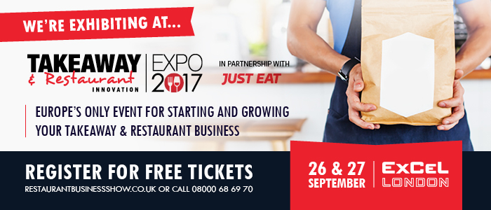 C5B37D2A CE22 48B7 873C 6D042BAE64D0 - eGen at the Takeaway Innovation Expo 2017 26th - 27th September